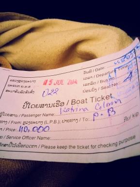 Ticket to Pak Beng
