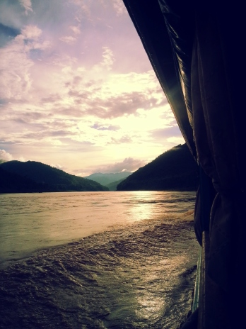 Sunset on the boat