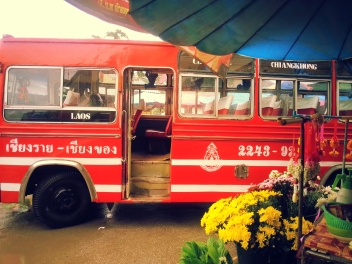 Our bus to Chiang Rai