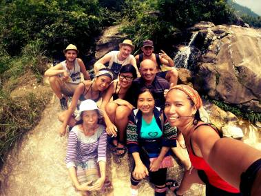Our group in Sapa, Vietnam