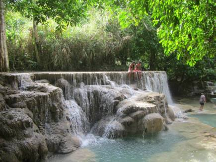 Favorite waterfalls in Luang Prabang, Laos
