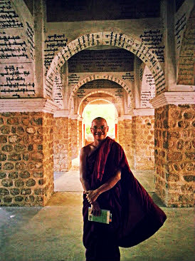 Our friend Wija who showed us around Mandalay Hill