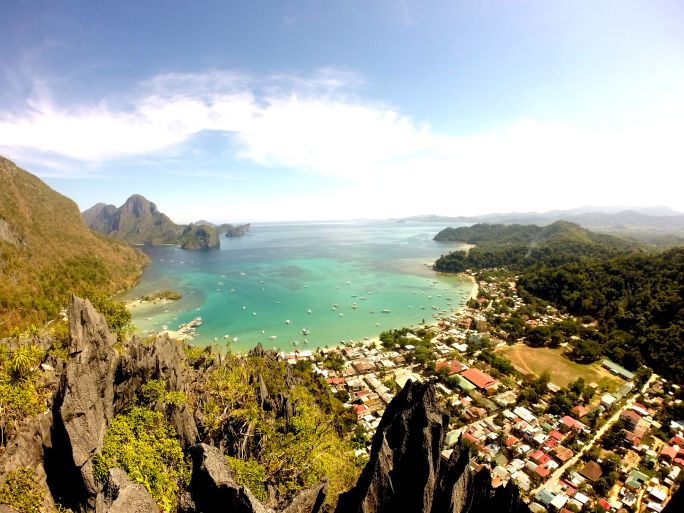 View of El Nido taken from Mt. Taraw